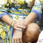 Elisabetta Gregoraci Made in Sud abito Dolce e Gabbana bracciali Cartier 5
