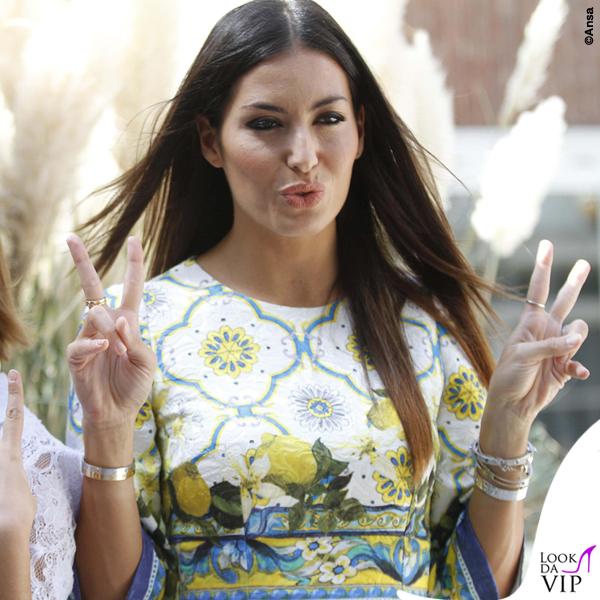 Elisabetta Gregoraci Made in Sud abito Dolce e Gabbana bracciali Cartier 7