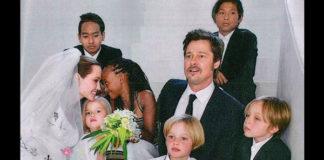 Matrimonio Pitt Jolie Brad Pitt abito Salvatore Ferragamo Angelina Jolie abito Atelier Versace