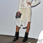 Melissa Satta MFW maglia gonna Dondup scarpe Givenchy 3