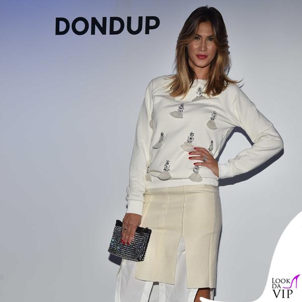 Melissa Satta MFW maglia gonna Dondup scarpe Givenchy 4