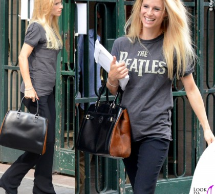 Michelle Hunziker tshirt Amplified Clothing borsa Trussardi