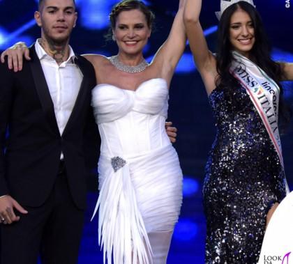 Miss Italia 2014 Emis Killa Simona Ventura abito bianco Ermanno Scervino Clarissa Marchese