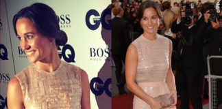 Pippa Middleton GQ Men of the Year Awards abito sandali Hugo Boss