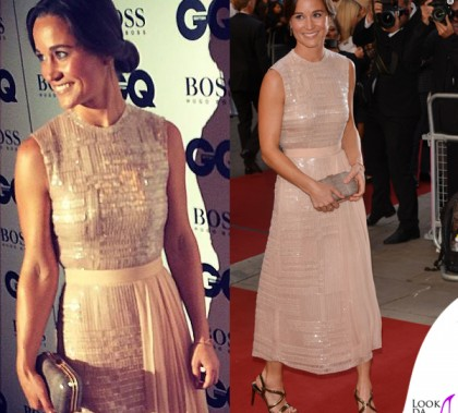 Pippa Middleton GQ Men of the Year Awards abito sandali Hugo Boss