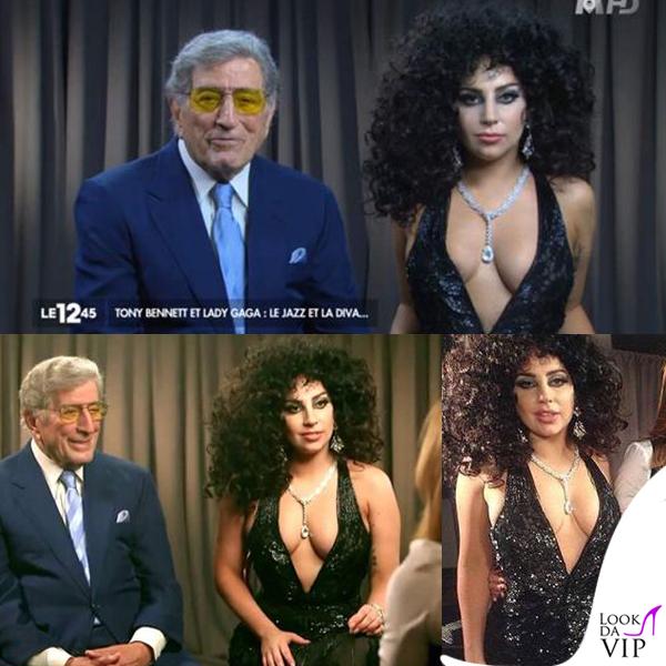 Tony Bennet Lady Gaga abito Roberto Cavalli