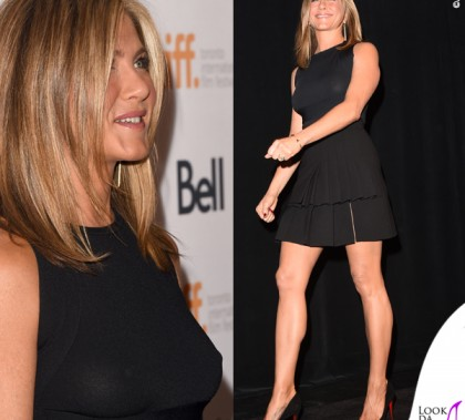 Toronto Film Festival Jennifer Aniston top Valentino gonna Emanuel Ungaro scarpe Christian Louboutin gioielli Jennifer Meyer 6