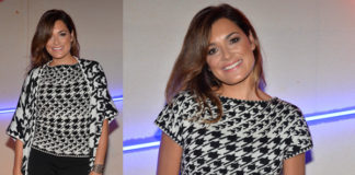 Alena Seredova pull mantella Laura Biagiotti bracciale Tatu MFW