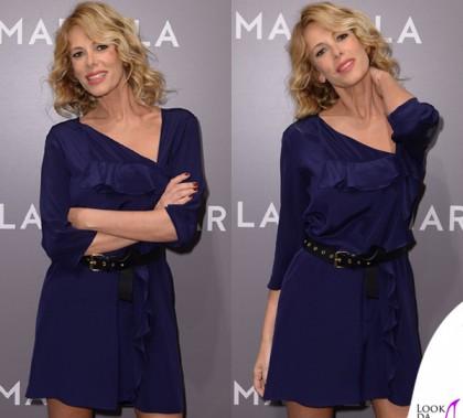 Alessia Marcuzzi abito borsa cappotto Marella 3
