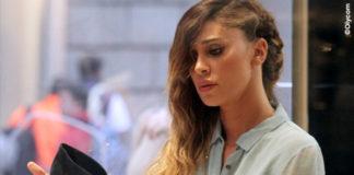 Belen Rodriguez giacca Caban Romantic jeans Levis borsa Celine 6