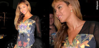 Beyonce jampsuit Stylestalker sandali Prada clutch Charlotte Olympia