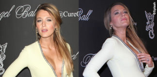 Blake Lively Ryan Raynolds Angel Ball abito Gucci 7
