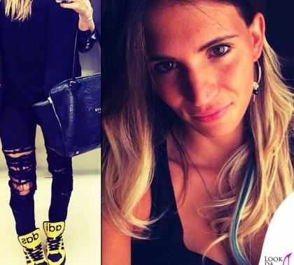 Carolina Marcialis borsa Golden Goose scarpe Adidas Jeremy Scott Instinct Hi
