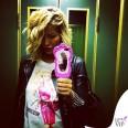 Elena Santarelli tshirt cover Moschino