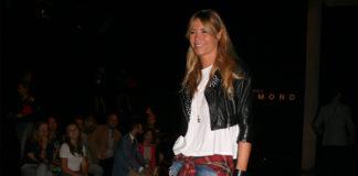 Elenoire Casalegno MFW chiodo Sword camicia Dondup shorts cerchietto Zara borsa Marc Jacobs 2
