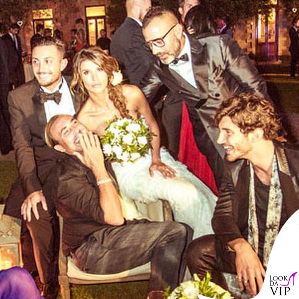 Elisabetta Canalis abito Alessandro Angelozzi Stefano De Martino matrimonio Alghero