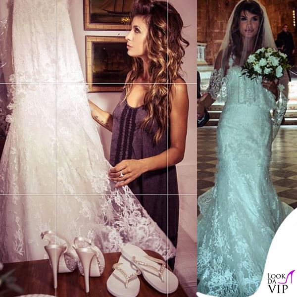 b56e7ab0bdf5 Elisabetta Canalis abito Alessandro Angelozzi infradito Havaianas  matrimonio Alghero