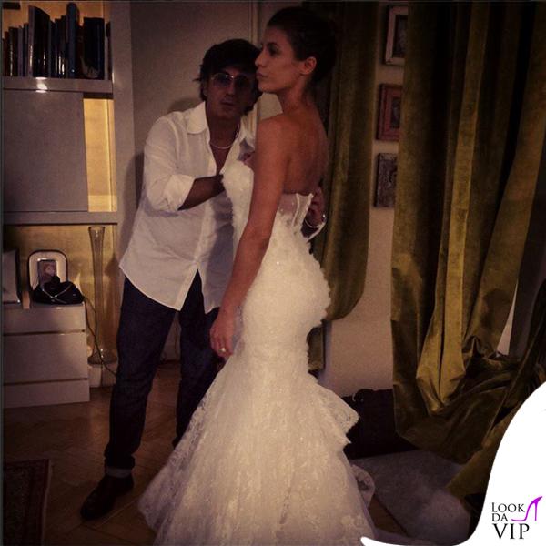 Elisabetta Canalis abito Alessandro Angelozzi matrimonio Alghero 2