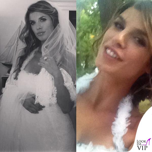Elisabetta Canalis abito Alessandro Angelozzi matrimonio Alghero 4