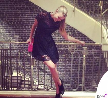 Fiammetta Cicogna abito Blumarine scarpe Jimmy Choo borsa Bulgari