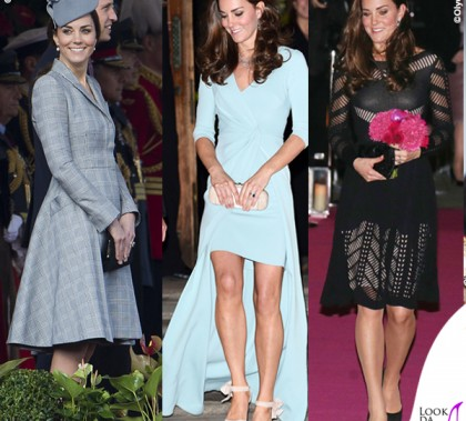 Kate Middleton abito Alexander McQueen abito Jenny Packham abito Temperley London