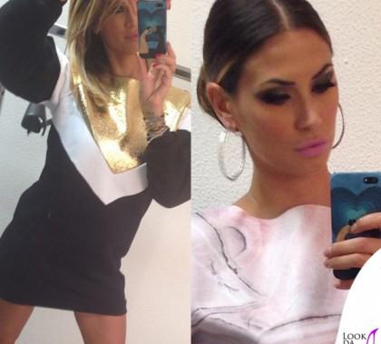 Melissa Satta Tiki Taka vestito felpa Gaelle Bonheur