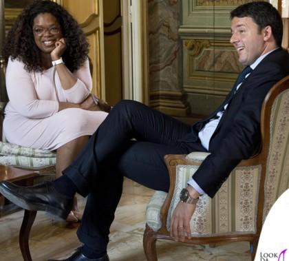 Oprah Winfrey Matteo Renzi Roma Palazzo Chigi
