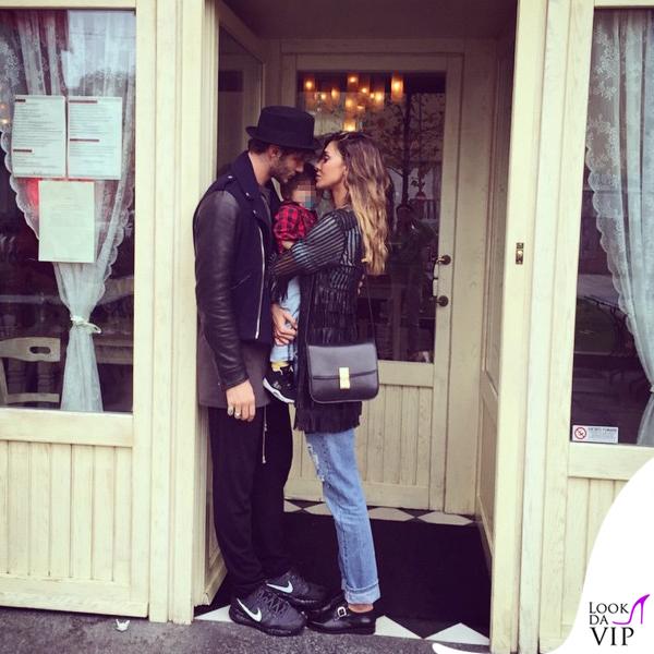 Petiti Bistro Stefano Santiago De Martino Belen Rodriguez giacca Caban Romantic jeans Levis borsa Celine
