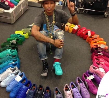 Pharell William scarpe Adidas Stan Smith