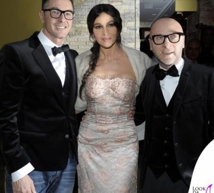 Stefano Gabbana Monica Bellucci Domenico Dolce 2012