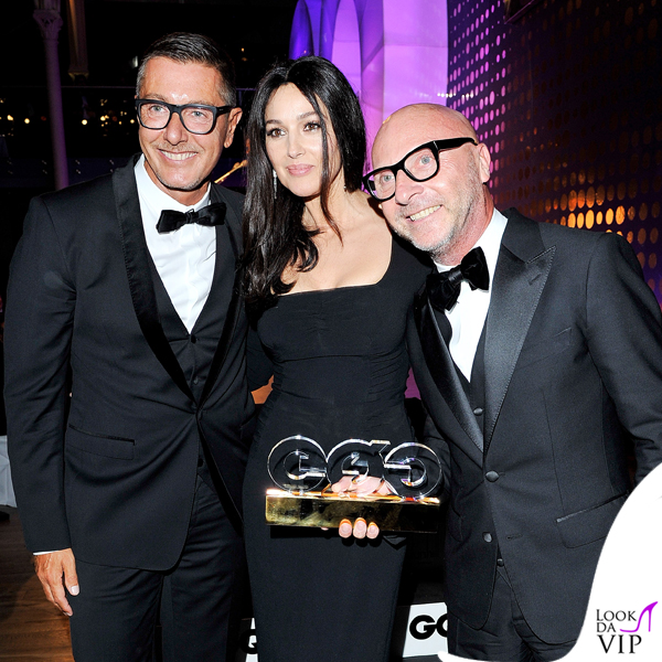 Stefano Gabbana Monica Bellucci Domenico Dolce - GQ Man Of The Year 2012