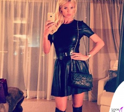 Victoria Silvstedt abito Zara stivali Jimmy Choo 2