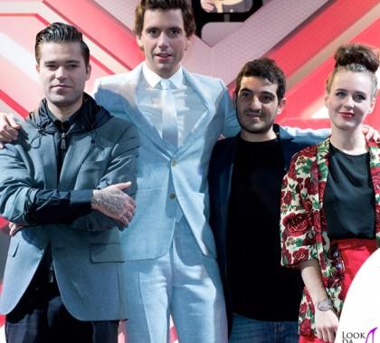X-Factor Diluvio Mika abito Walter Van Beirendonck scarpe Louboutin Mario Emma