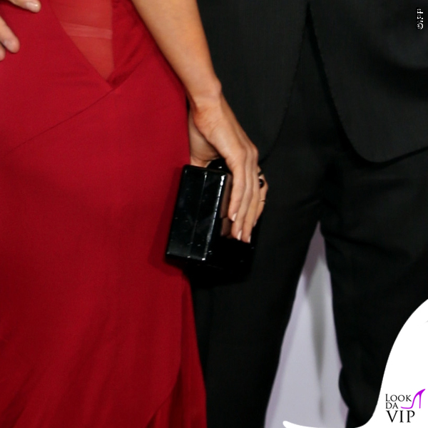 Megan Fox Ferrari abito Versace clutch Edie Parker 12