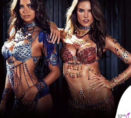 Adriana Lima Alessandra Ambrosio Victoria's Secret Dream Angels Fantasy Bras 2014