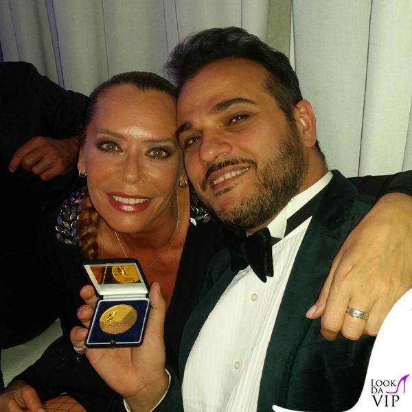 Barbara De Rossi abito Gai Mattiolo scarpe Loriblu Gennaro Marchese abito American Apparel scarpe Loriblu