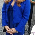 Carlotta Ferlito abito giacca Federica Pittaluga scarpe Diesel pochette Prada 3