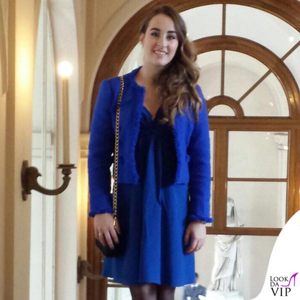 Carlotta Ferlito abito giacca Federica Pittaluga scarpe Diesel pochette Prada 4