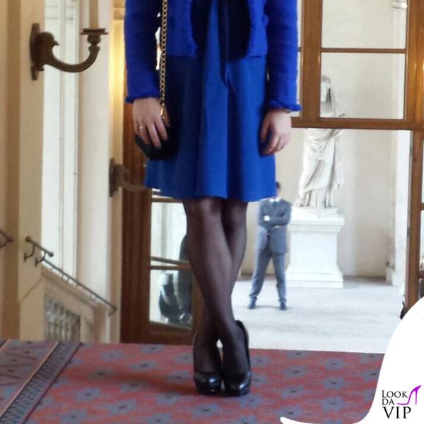 Carlotta Ferlito abito giacca Federica Pittaluga scarpe Diesel pochette Prada 5