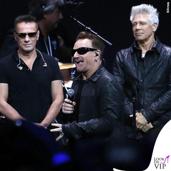 Flint Center for Performing Arts U2 Bono Vox occhiali Maui Jim Dorado 4