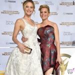Hunger Games Jennifer Lawrence abito Dior scarpe Aquazzurra Elizabeth Banks