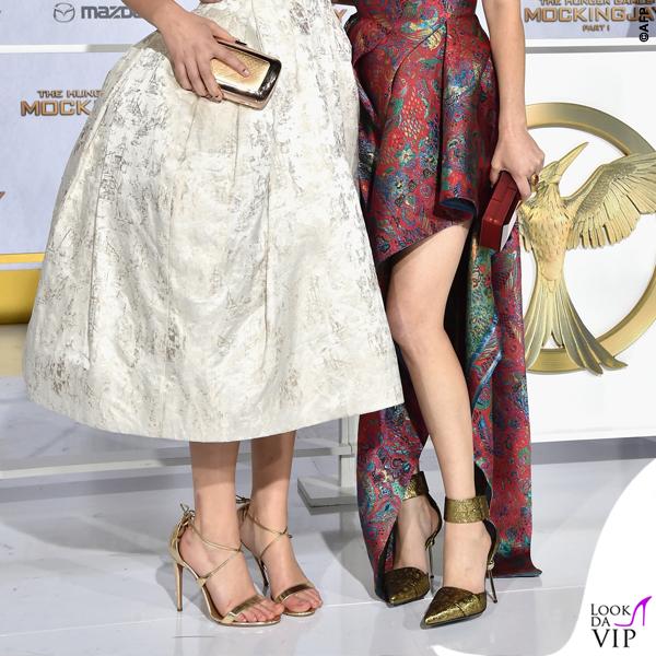 Hunger Games Jennifer Lawrence abito Dior scarpe Aquazzurra Elizabeth Banks 2