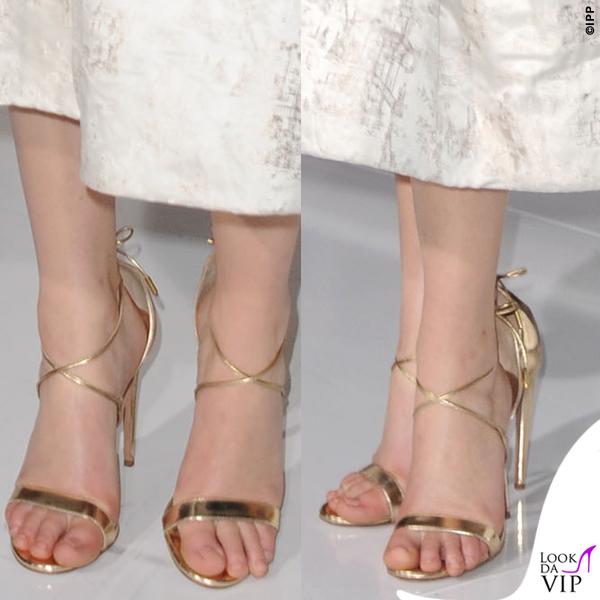 Jennifer Lawrence Hunger Games abito Dior scarpe Aquazzurra gioielli Anita Ko Vita Fede clutch Roger Vivier 13