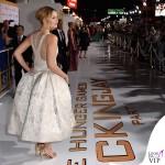 Jennifer Lawrence Hunger Games abito Dior scarpe Aquazzurra gioielli Anita Ko Vita Fede clutch Roger Vivier 5