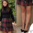 Katie Holmes Miss Meadows gonna tartan Yves Saint Laurent scarpe Isabel Marant 8