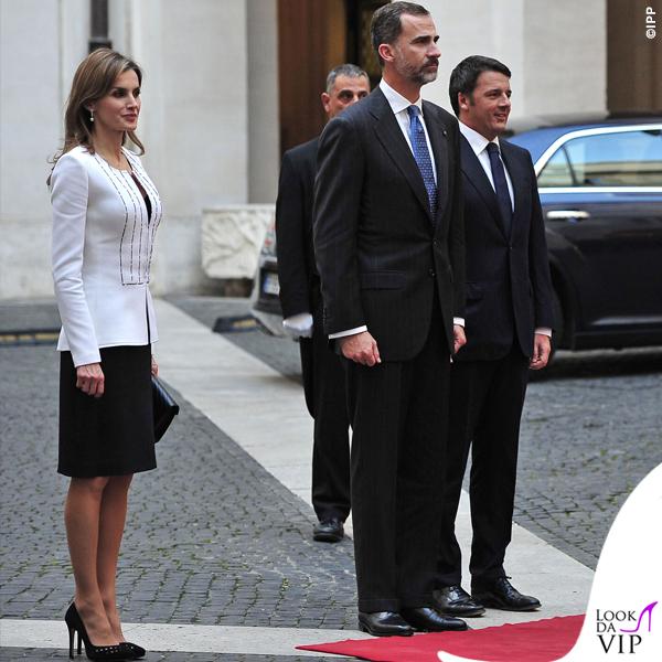 Letizia Ortiz total Felipe Varela Felipe VI Matteo Renzi Roma 2