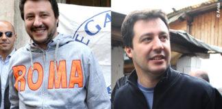 Matteo Salvini felpa Roma Milano Lombardia