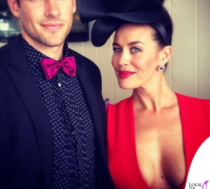 Megan Gale Shaun Hampson Melbourne Cup 3