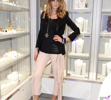Melissa Satta Surdust Swarovski pantaloni Just Cavalli gioielli Swarovski