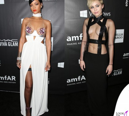 Miley Cyrus Rihanna amfAR Inspiration Hollywood Gala Abiti Tom Ford 2